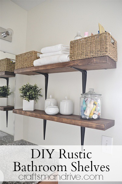 30 diy storage ideas to organize your bathroom cute diy projects 3 rustic bathroom ideas solutioingenieria