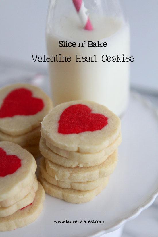Slice n Bake Valentine Heart Cookies