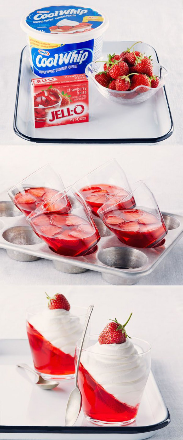 Strawberry Jelly With Real Strawberries and Whipped Cream