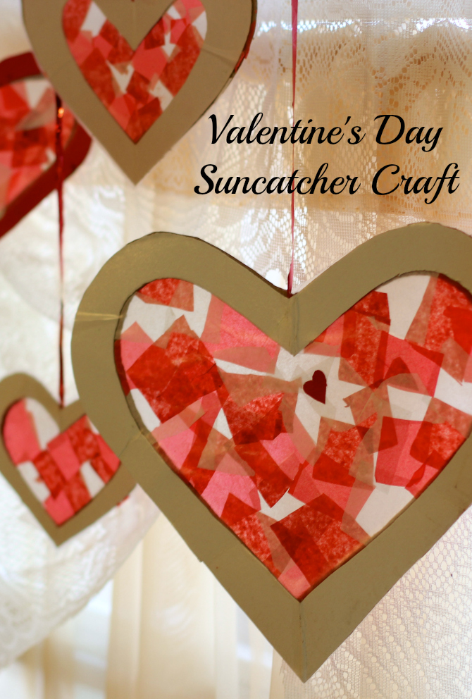 12. Tissue Paper Heart Suncatcher