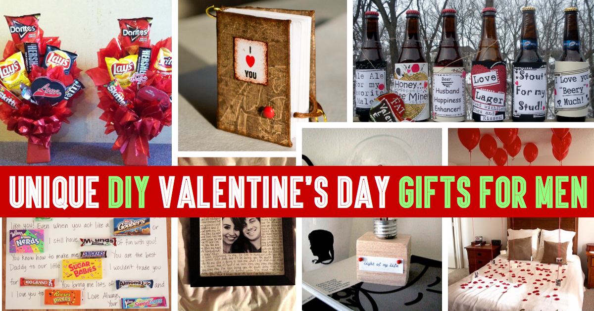 35 unique diy valentine 39 s day gifts for men for Small valentines gifts for him