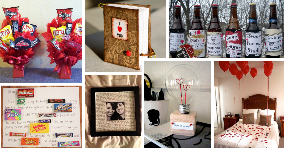 35 unique diy valentine 39 s day gifts for men cute diy for Cute valentines day gifts for men