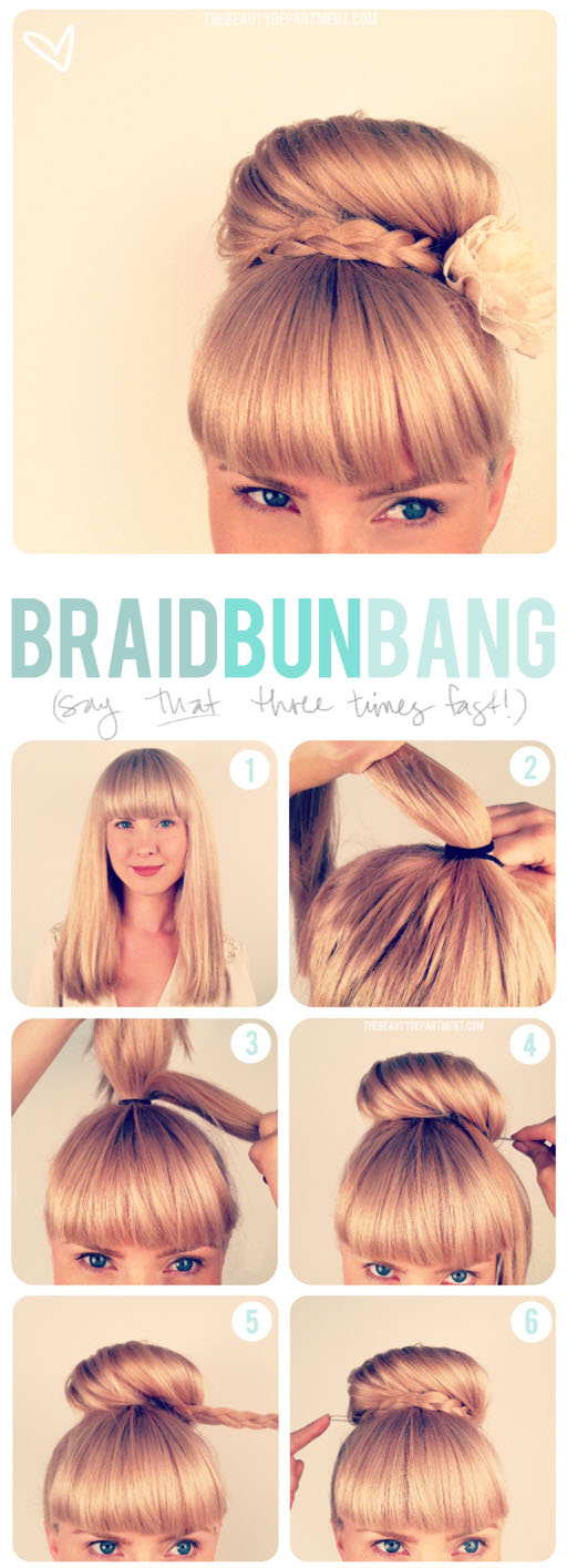 Updo and Bangs