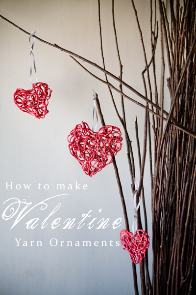 Valentine Yarn Ornaments
