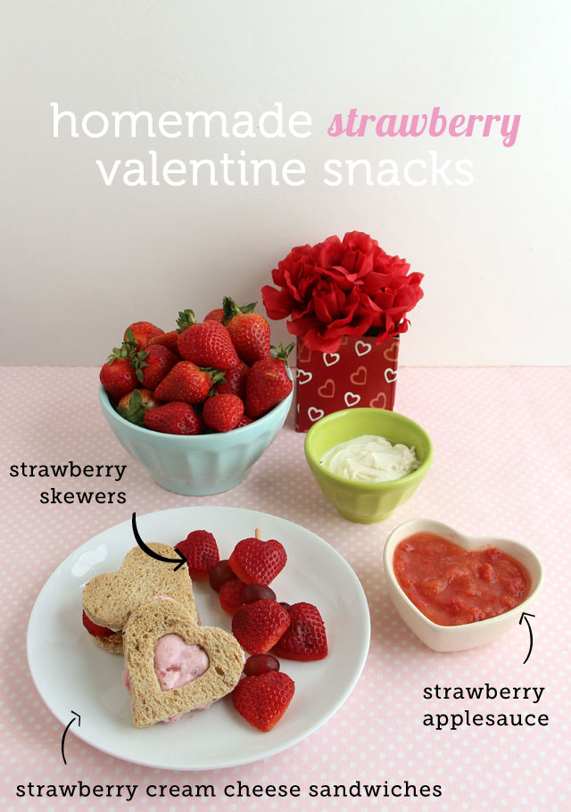 Valentine's Day strawberry snacks