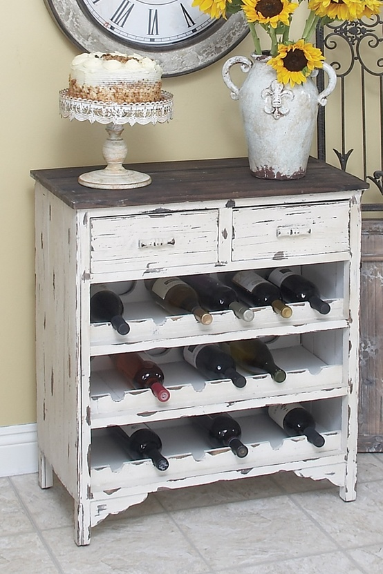 Wine cabinet from old dresser