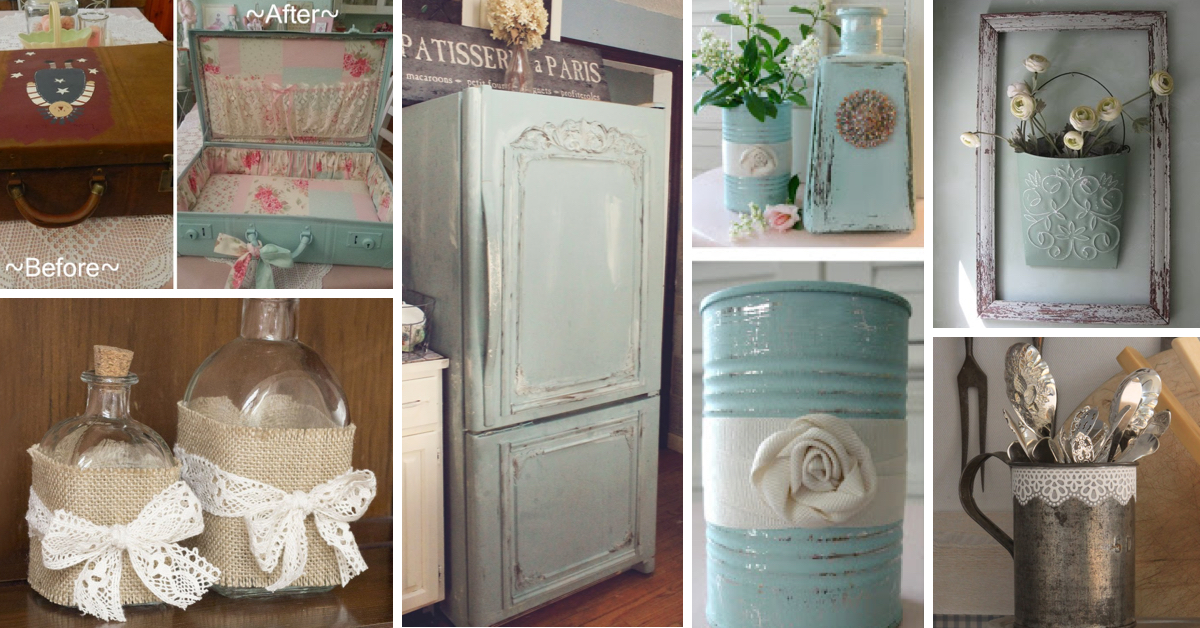 25 diy shabby chic decor ideas for women who love the retro style cute diy projects Home design ideas shabby chic