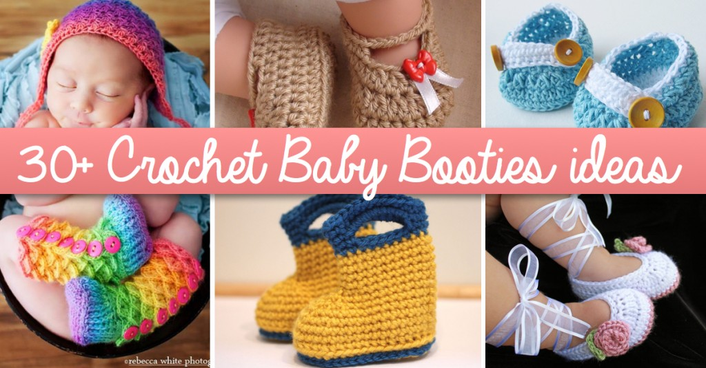 3a043c362d689 30+ Crochet Baby Booties Ideas For Your Little Prince Or Princess ...