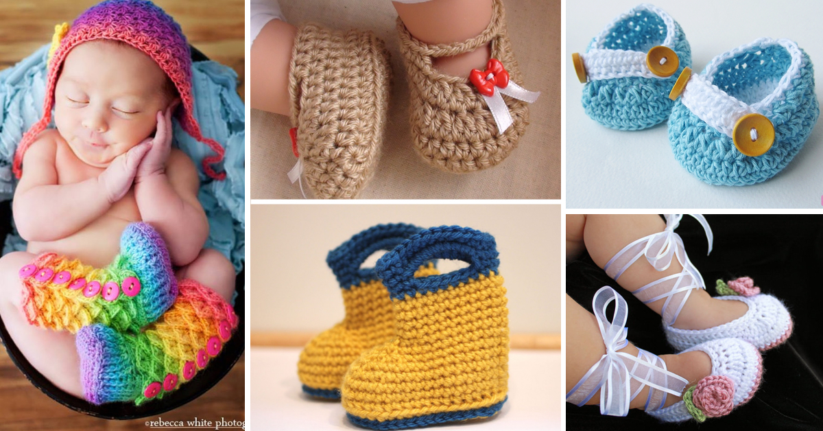 86d9c1ea2 30+ Crochet Baby Booties Ideas For Your Little Prince Or Princess ...