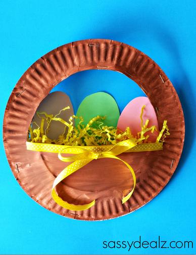 3D Paper Plate Easter Basket