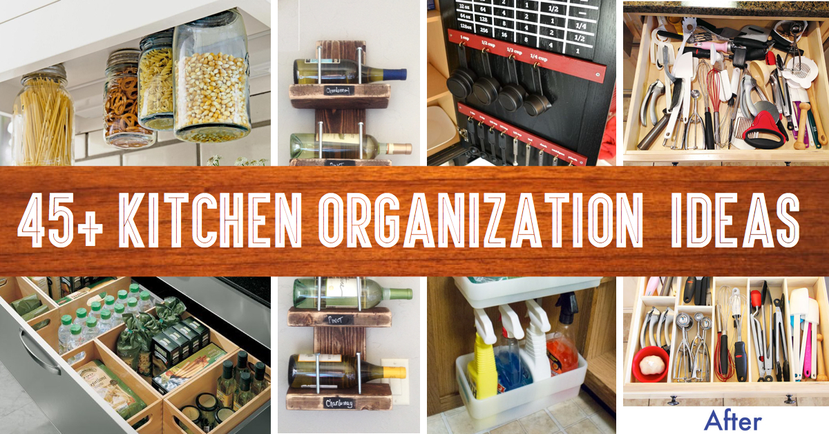 45 small kitchen organization and diy storage ideas - Kitchen Organization Ideas