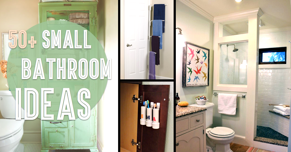 50 small bathroom ideas that you can use to maximize the for Diy bathroom ideas for small spaces