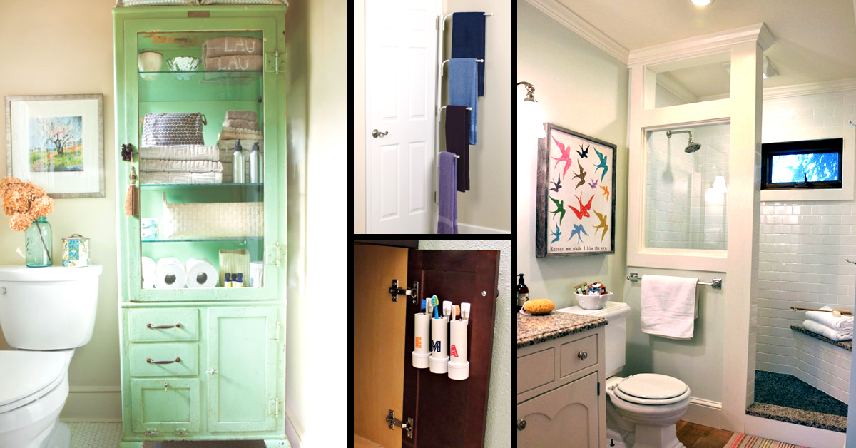 50 small bathroom ideas that you can use to maximize the for Bathroom space ideas