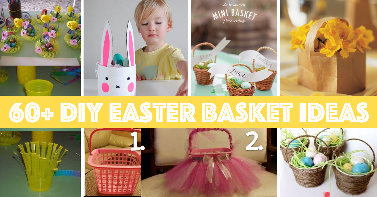 Mini diy easter bouquets craftbnb 60 diy easter basket ideas for 2016 negle Image collections