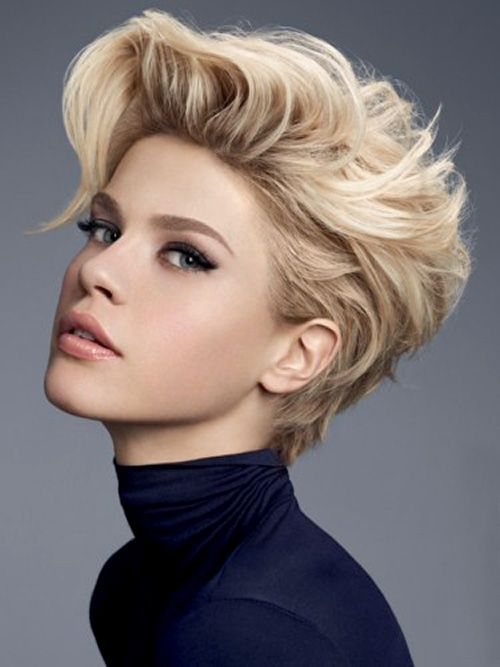 Blond Trendy Short Hairstyle