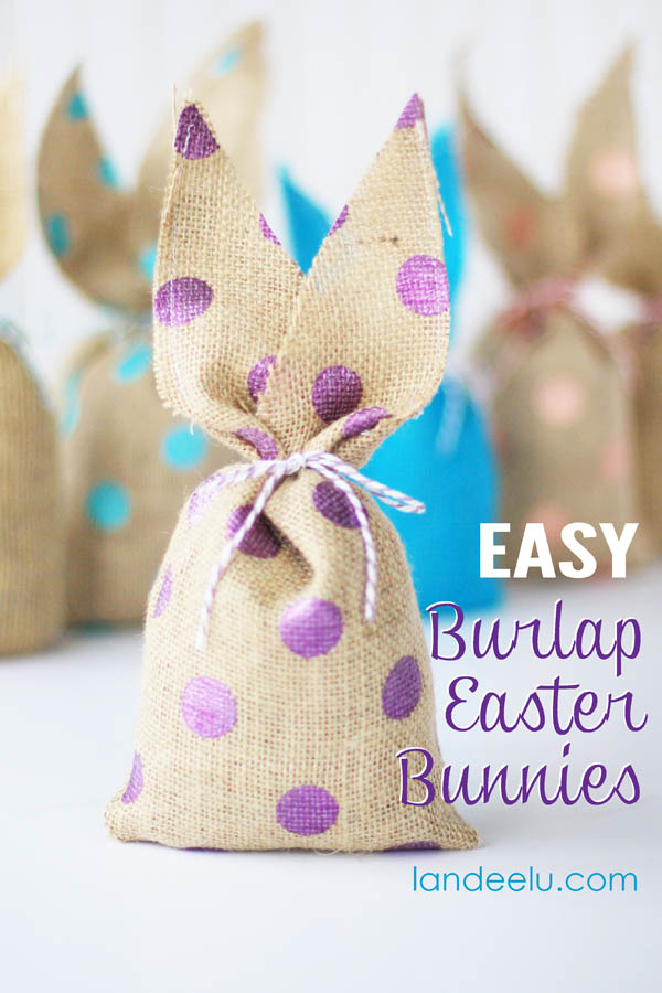 Burlap Bunnies If You Love Easter Bunny Decorations