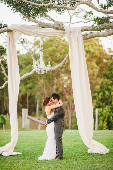 Chic Rustic Ceremony Decor