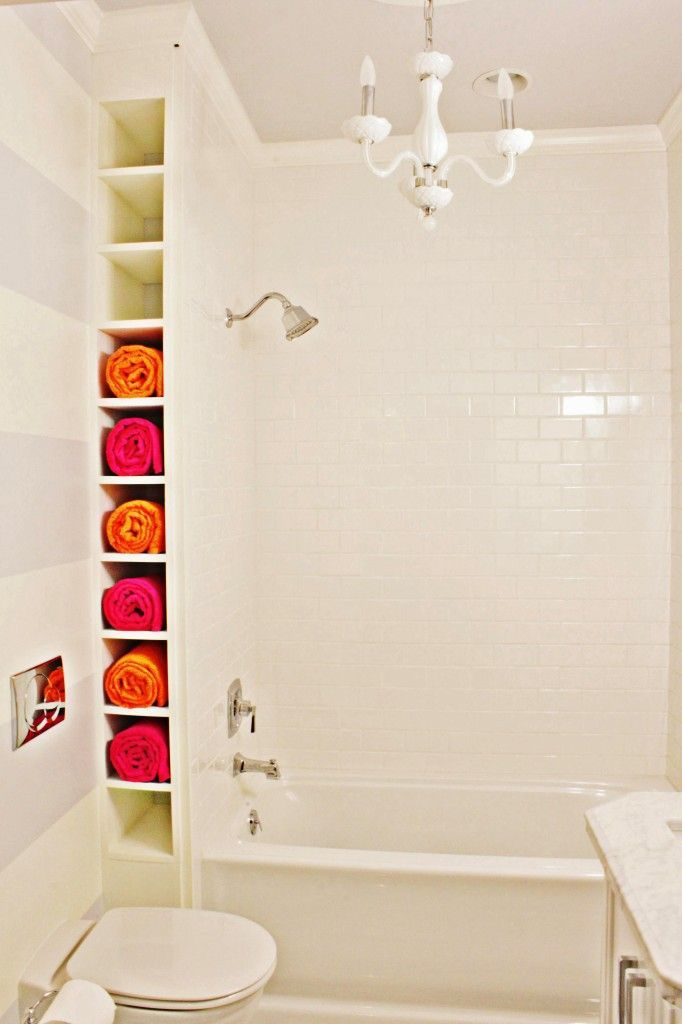 Corner Bathroom Towel Storage