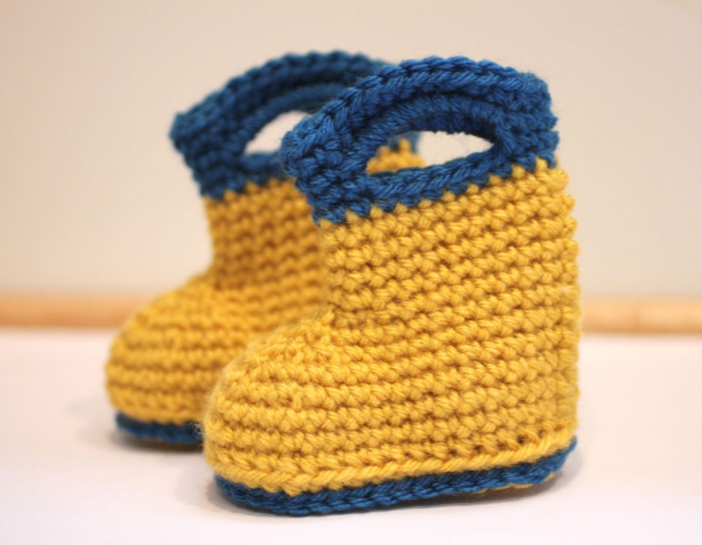 30 crochet baby booties ideas for your little prince or princess crochet rain boots bankloansurffo Choice Image