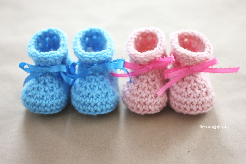 Baby Booties Dresses Christening Gown Crochet Patterns : 30+ Crochet Baby Booties Ideas For Your Little Prince Or ...