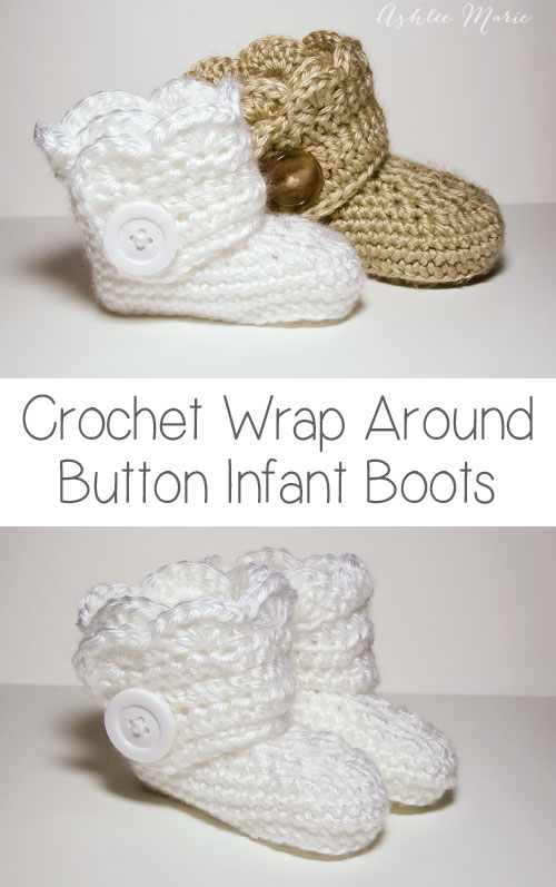 Crochet Wrap Button Boots