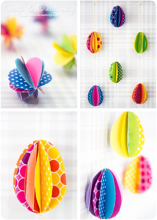 DIY Hanging Paper Eggs
