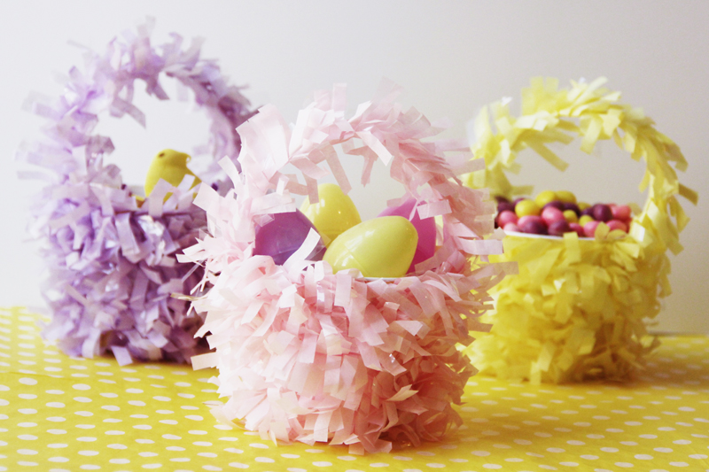 DIY Mini Baskets For Easter