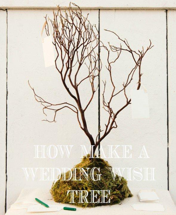 DIY Rustic Wedding Wish Tree