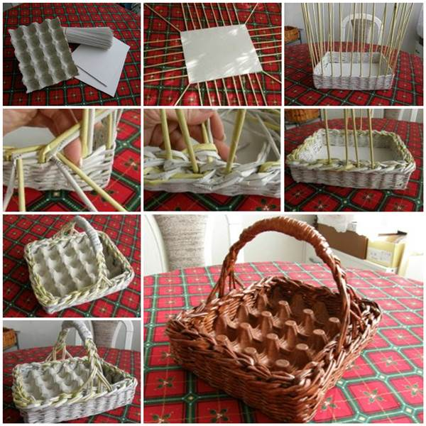 How To Weave A Basket Out Of Paper : Diy easter basket ideas for