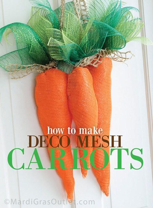 Deco Mesh Carrots