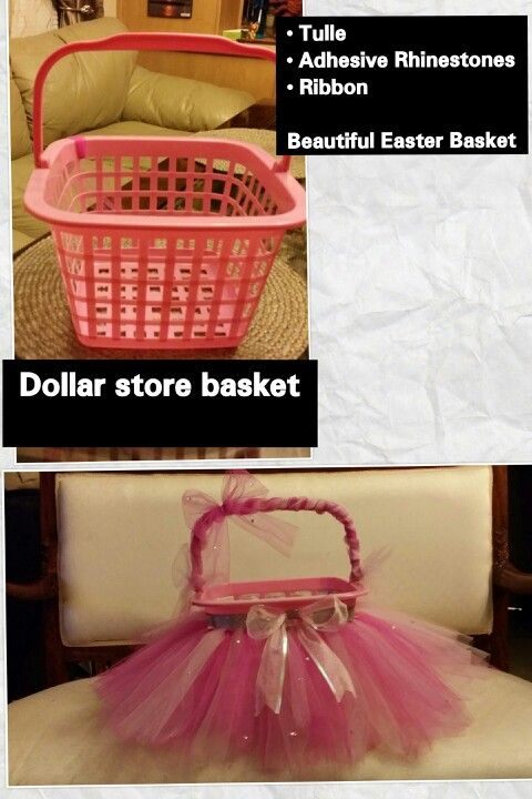 60 diy easter basket ideas for 2017 dollar store easter basket idea negle Image collections