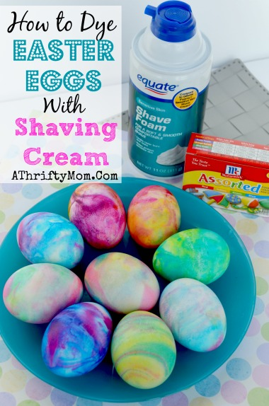 Dye Your Easter Eggs With Shaving Cream