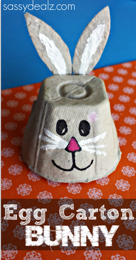 Egg Carton Bunny Crafts