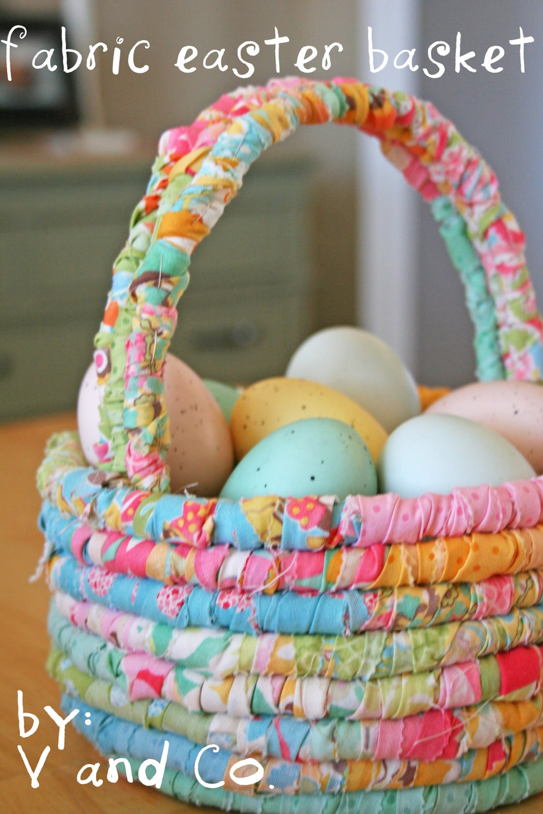 60 diy easter basket ideas for 2017 fabric easter basket negle Image collections