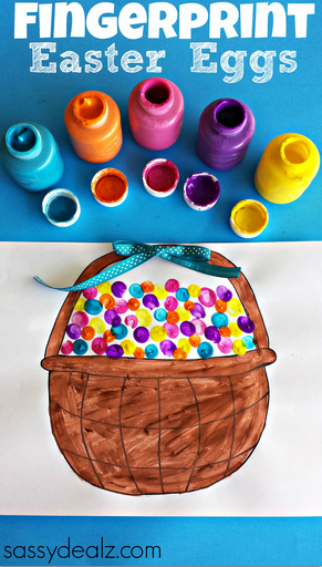 Fingerprint Easter Egg Craft