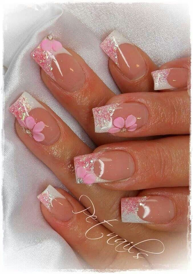 Acrylic Floral Designs with Nude Paint