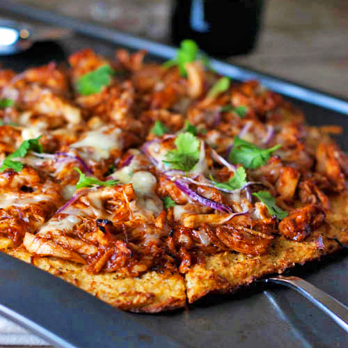 Healthy BBQ Chicken Pizza