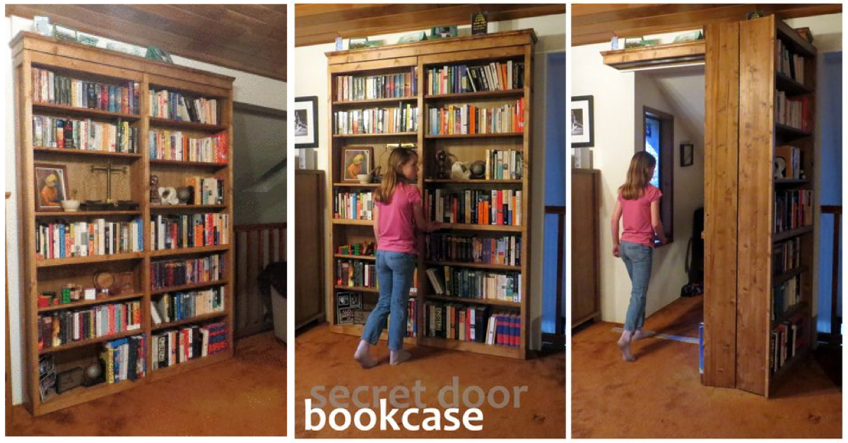 Hogwarts-Style Secret Door Bookcase For Book Lovers! – Cute DIY Projects