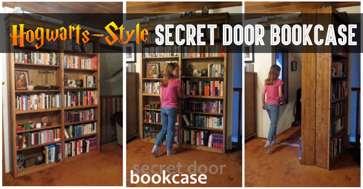 Hogwarts style secret door bookcase for book lovers for Read your bookcase buy