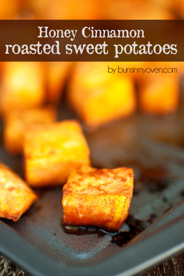 Honey Cinnamon Roast Sweet Potato