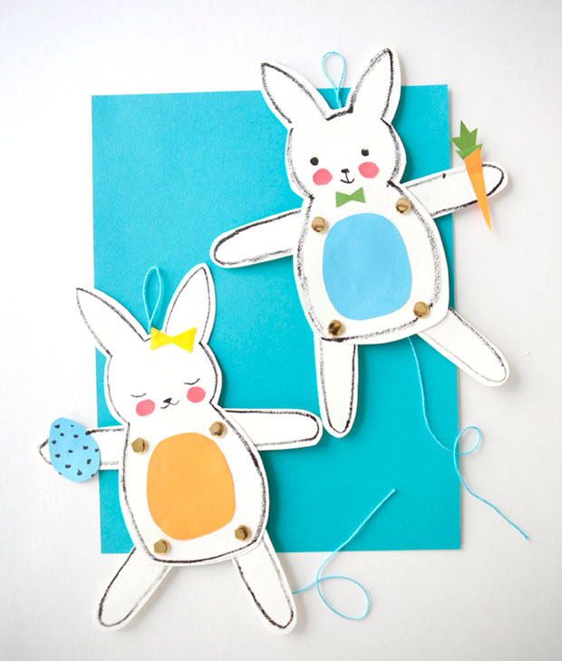 Jumping Jack Easter Bunnies