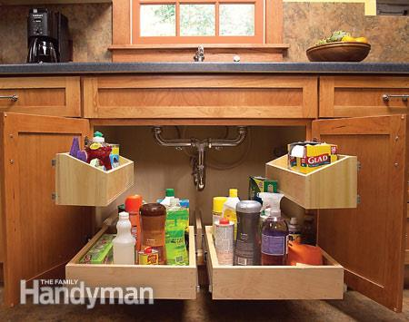 kitchen sink storage trays - Kitchen Countertop Storage Ideas