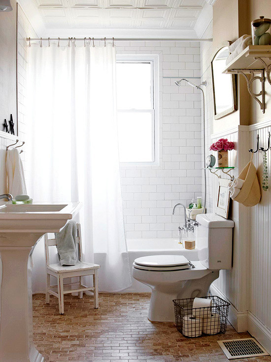 50 small bathroom ideas that you can use to maximize the for Pretty small bathroom ideas