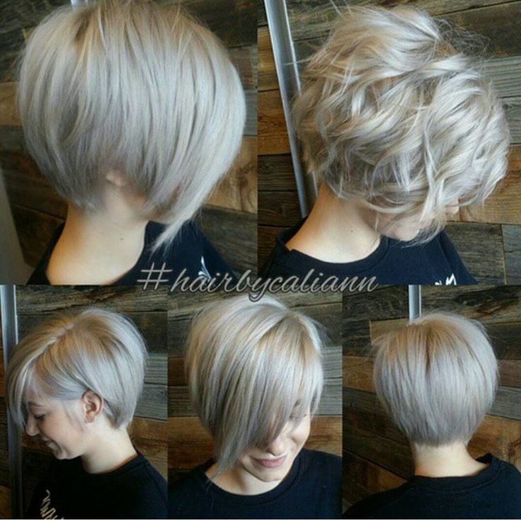 Messy Platinum Blond Asymmetric Bob