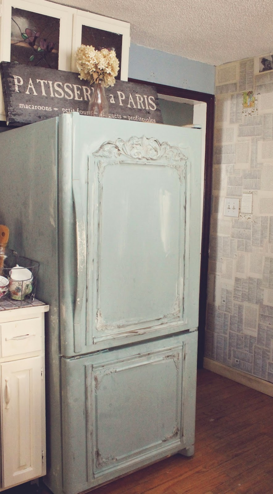 Old Fridge Turned Shabby French