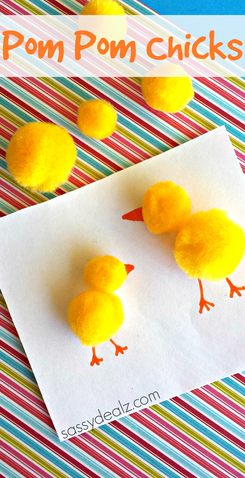 Pom-Pom Chick Crafts