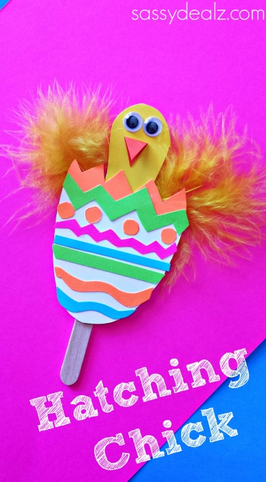 Popsicle Stick-Based Hatching Chick Craft