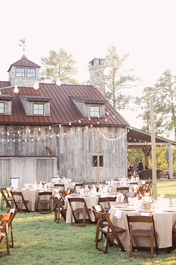 Rustic Outdoor Reception – Right Next To The Barn