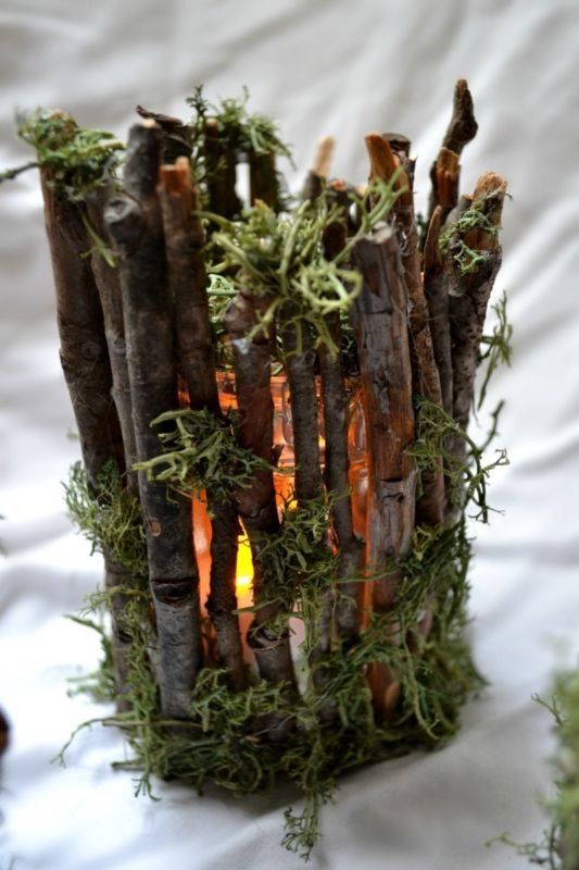 Rustic Twig Candle Holders