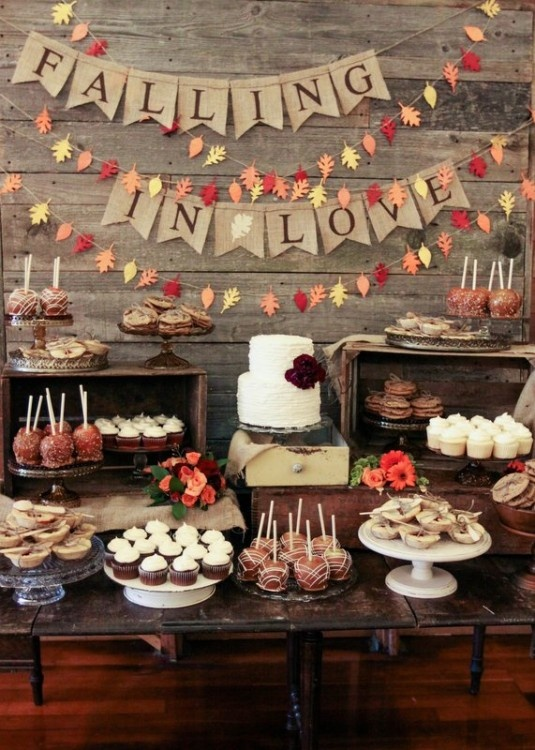 Shine on your wedding day with these breath taking rustic wedding rustic wedding dessert bar solutioingenieria Images